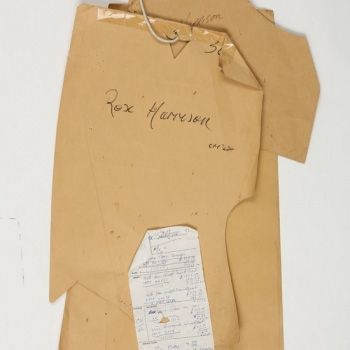 1959 - The statuesque Rex Harrison places his debut order with Huntsman - Order sheet Image