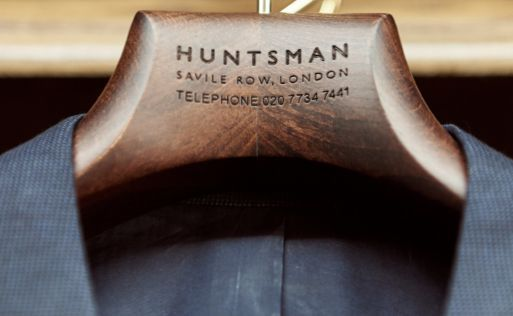 Tailors Quicklinks Image - Huntsman branded hanger with Jacket